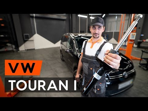 How to replace a front shock strut onVW TOURAN 1 (1T3)[TUTORIAL AUTODOC]
