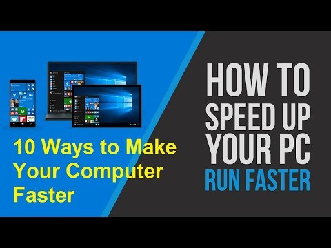 How To Make Your PC/Laptop Run Faster (10 simple steps)