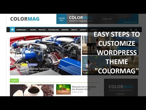 easy steps to customize the wp theme