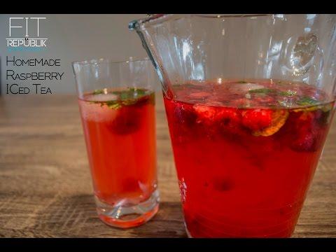 HOMEMADE RASPBERRY ICED TEA - HEALTHY RECIPES - GO FITR