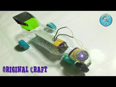 How to make a Electronic Toy car using plastic bottles and Caps