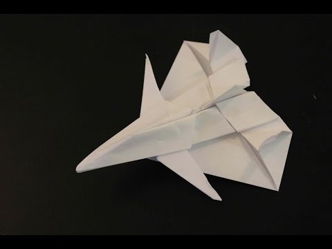 How to make a paper plane: F-14 TOMCAT