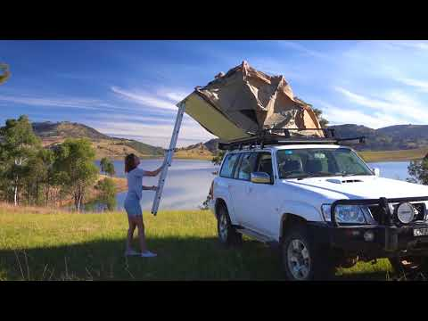 Adventure Kings Roof Top Tent Set Up