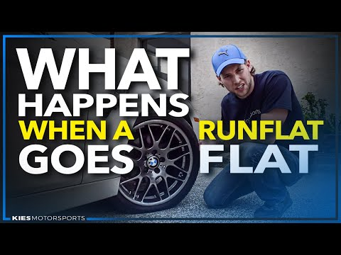 What Happens When a RunFlat Goes Flat? F30 BMW and a Big Nail