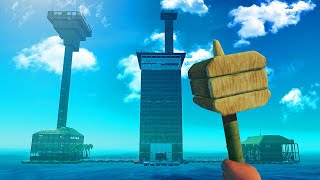 JELLY vs. KWEBBELKOP vs. SLOGOMAN BUILDING CHALLENGE! (Raft)