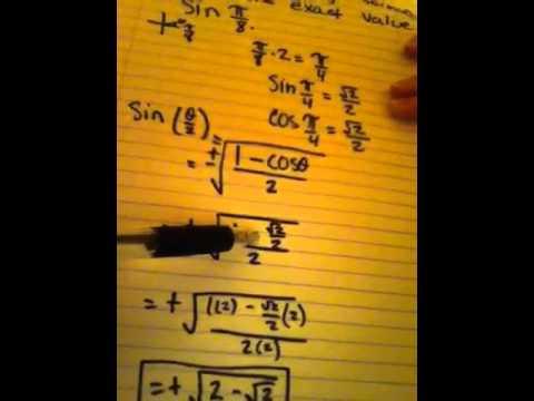 Use any half angle formula