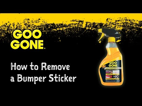 How to Easily Remove a Bumper Sticker - Goo Gone