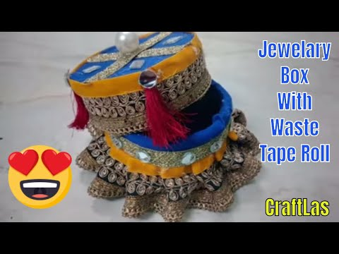 DIY Beautiful Jewelry Box With Waste Materials | CraftLas
