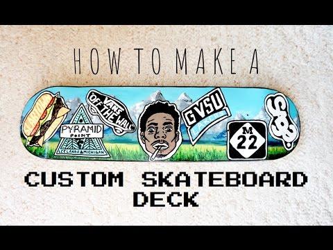 How I Make Custom Skateboard Decks