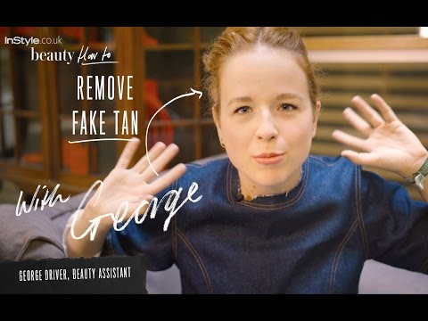How to remove fake tan