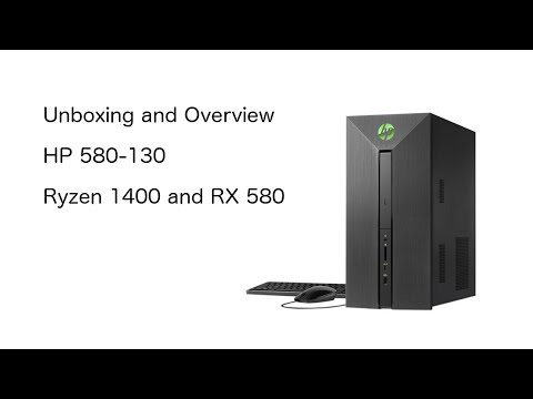 HP 580-130 Unboxing and Overview