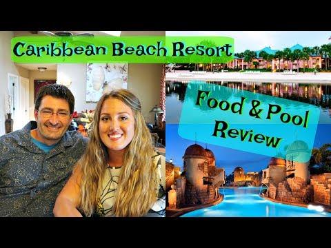 Disney's Caribbean Beach Resort Review Part 2: The POOL, FOOD & BUSES!!!