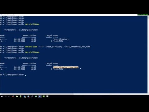 How to rename File or Folder with Powershell