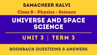 Universe and space science Book Back Answers | Unit 3  | Class 8th | Physics | Science | Samacheer
