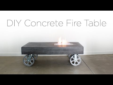 DIY Concrete FireTable