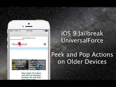 UniversalForce Hands-on: Tweak enables 3D Touch Peek and Pop feature on older iOS 9 devices