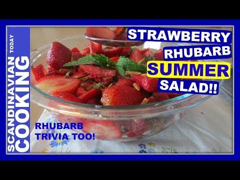 How to Make Strawberry Rhubarb Salad 🍓
