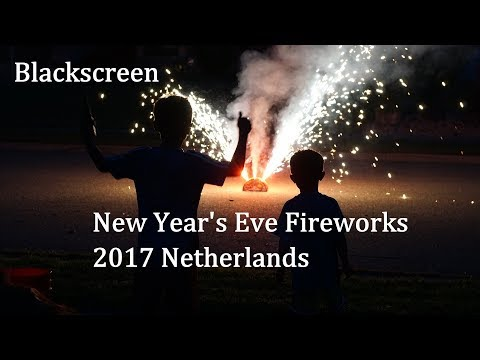 New Year's Eve 2017 in Holland Binaural Sound Recording (Black Screen)