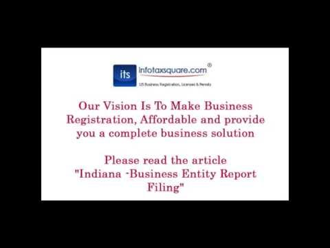 Indiana  Business Entity Report Filing