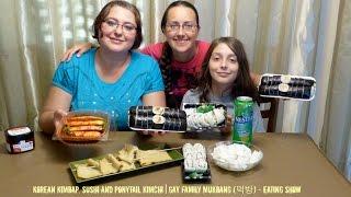 Download Korean Kimbap, Sushi And Ponytail Kimchi (Full With Ending) | Gay Family Mukbang (먹방) Video