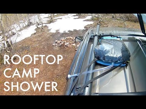 Adding a Solar Camp Shower to My Car's Roof (Car Camping/Vandwelling Tip)