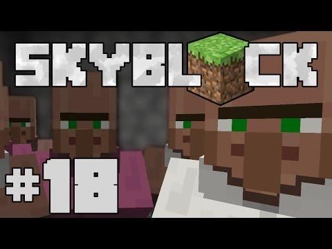 Minecraft- SkyBlock [18] VILLAGER TRADING