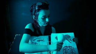 [ASMR] Roleplay // Cyberpunk Bar // Laser Tattoo Application // Retrowave Music