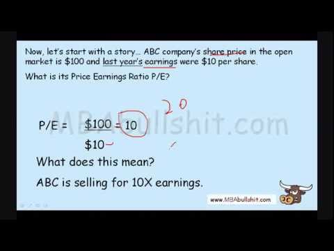 P/E Price Earnings Ratio Analysis in 10 minutes: Financial Ratio Analysis Tutorial