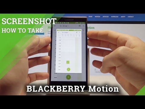 How to Take Screenshot on BLACKBERRY Motion - Capture Screen / Save Screen
