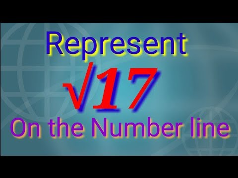 Represent √17 on the number line.