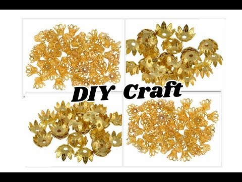 DIY Craft with bead caps | Designer earrings with caps