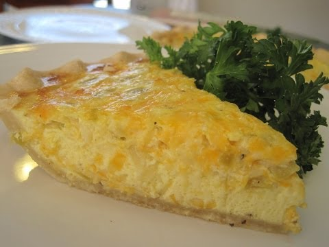 How to make Quiche - Green Chilies & Cheese Quiche Recipe