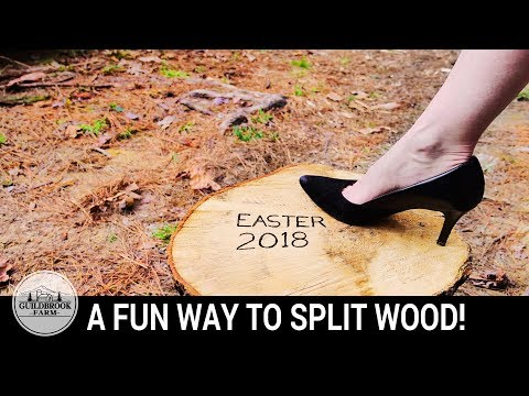 THE BEST WAY TO SPLIT FIREWOOD! (Funny)