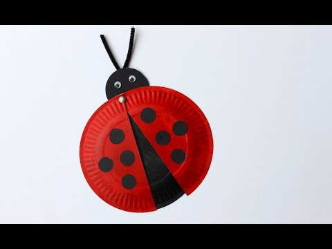 Easy craft: How to make a paper plate ladybird
