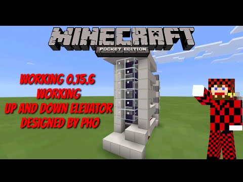 how to make up down piston elevator redstone tutorial 1.2.8 minecraft pocket edition