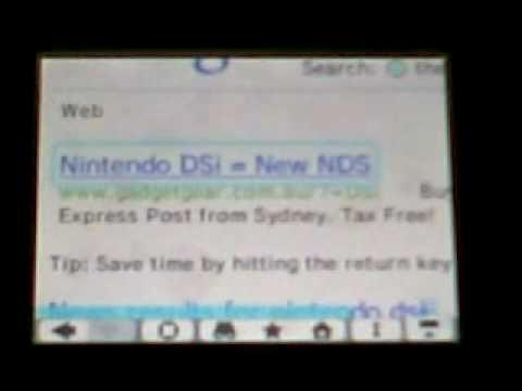 Web browser - Nintendo Dsi