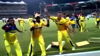 Dwayne Bravo amazing Dance in IPL.. Gangnam style dance