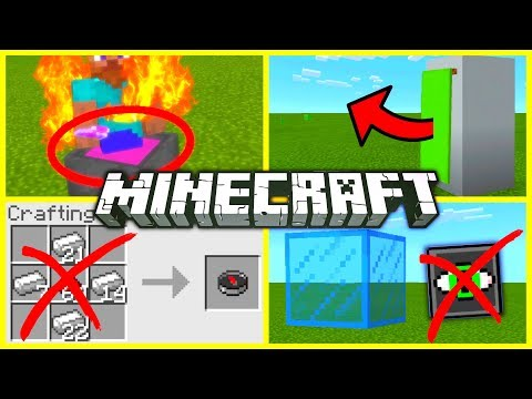 ✔️MINECRAFT: THINGS YOU DIDN'T KNOW! (Maybe) // Secret tips and tricks [Minecraft Bedrock]