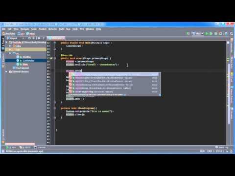 JavaFX Java GUI Tutorial - 7 - Closing the Program Properly