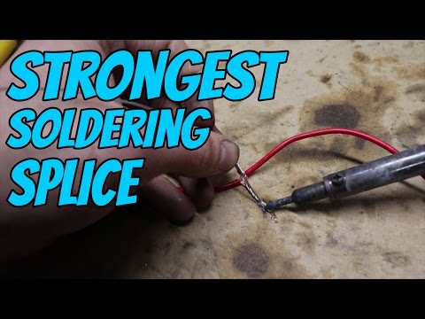Strongest way to solder wires together?