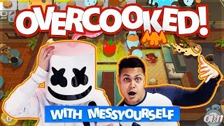 Playing OVERCOOKED with MessYourself | Gaming with Marshmello