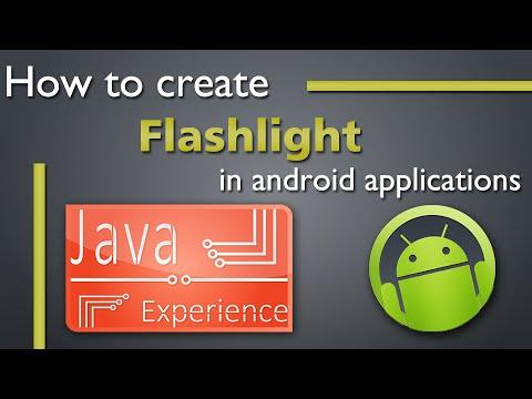 How to create a Flashlight app in android