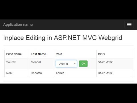 Part 2 - Advance Inplace editing in asp.net MVC webgrid