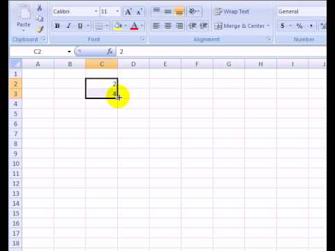 Create a List of Numbers in Excel