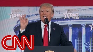 President Donald Trump speaks at CPAC