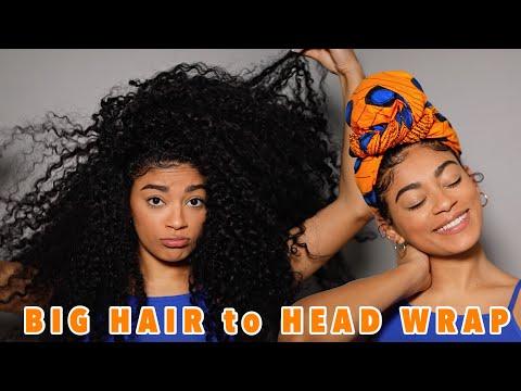 HOW I WRAP MY BIG CURLY HAIR | jasmeannnn