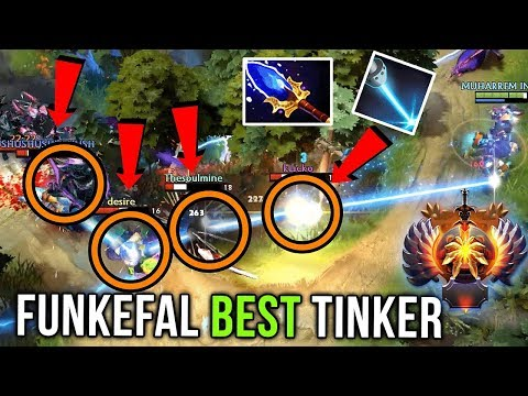 Funkefal Best Tinker in Doto - Aghanim Scepter Build 4x Man Laser Dota 2
