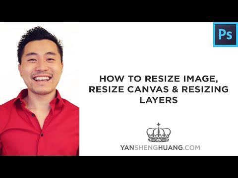 Photoshop Tutorial: How to Resize Image, Resize Canvas and Resizing Layers