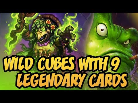 Hearthstone: Wild Cubes With 9 Legendary Cards