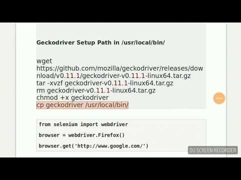 Python - Getting Started With Selenium WebDriver on Ubuntu